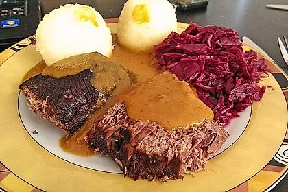Sächsischer Sauerbraten nach Omas Rezept