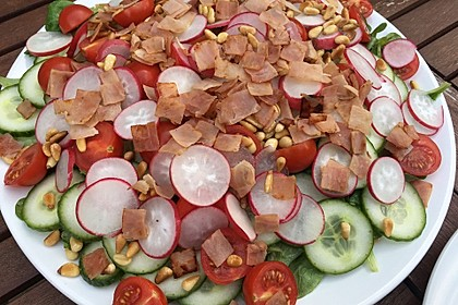 Gemischter Feldsalat mit Himbeeressig - Dressing 14