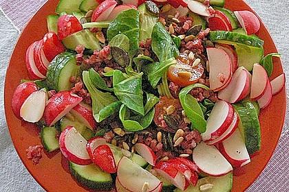Gemischter Feldsalat mit Himbeeressig - Dressing 12