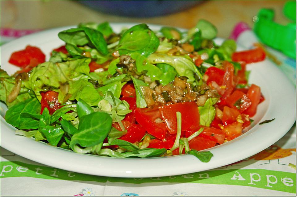 Chefkoch salat himbeeressig