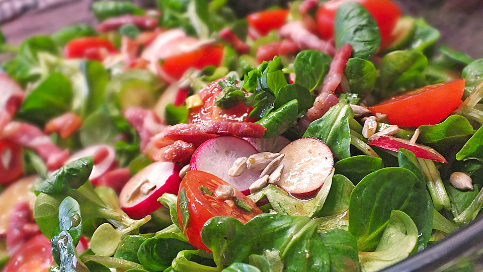 Salat mit himbeeressig rezept