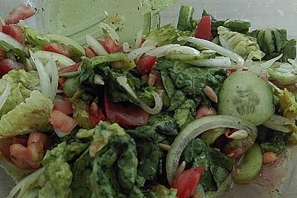 Gemischter Feldsalat mit Himbeeressig - Dressing 13