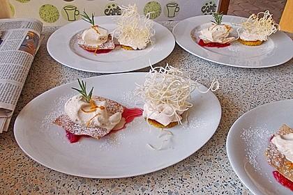 Tonka - Topfen - Mousse auf Blutorangenragout mit frittierten Karamell - Wan Tan 4