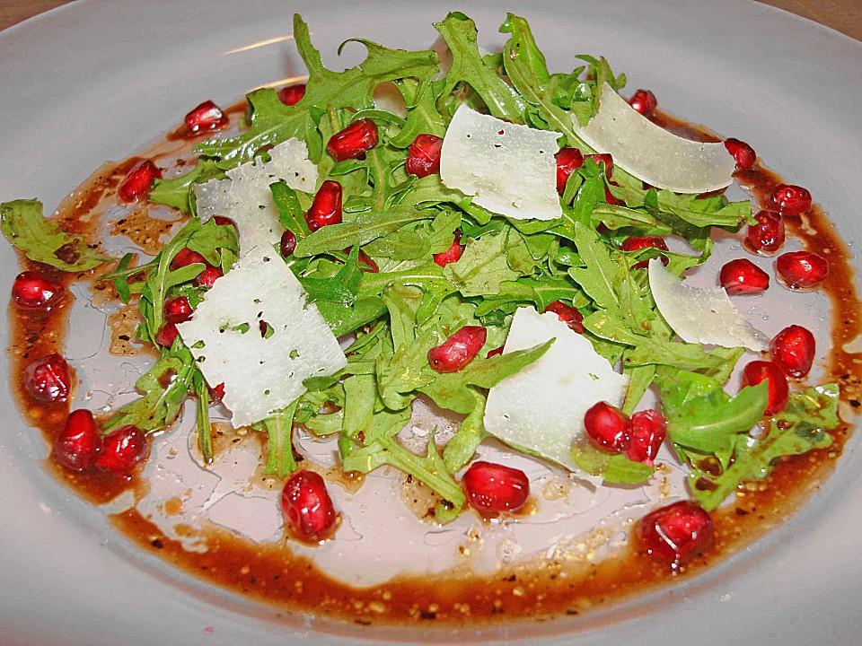 Rucola - Granatapfel - Salat mit Pecorino von bushcook | Chefkoch.de