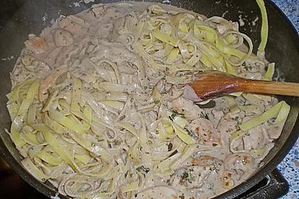 Pasta mit Schweinefilet in Kräutersahne 14