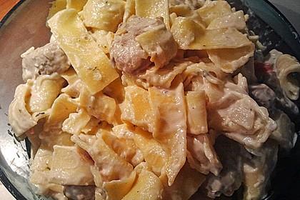Pasta mit Schweinefilet in Kräutersahne 18
