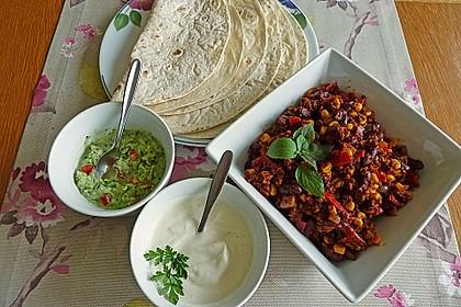Tortillas mit Hackfleisch und Bohnen 2