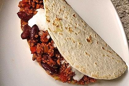 Tortillas mit Hackfleisch und Bohnen 1
