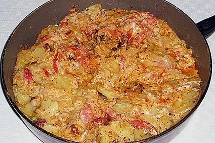 Kartoffelpfanne mit Mozzarella 7
