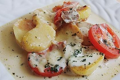 Kartoffelpfanne mit Mozzarella 3
