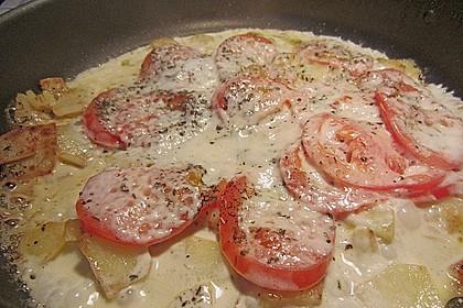Kartoffelpfanne mit Mozzarella 5