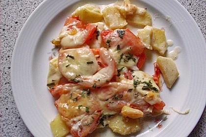 Kartoffelpfanne mit Mozzarella 14