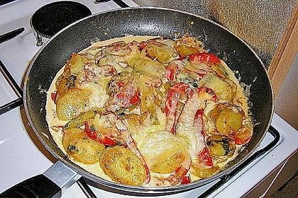 Kartoffelpfanne mit Mozzarella 16