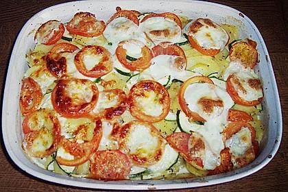 Kartoffelpfanne mit Mozzarella 8