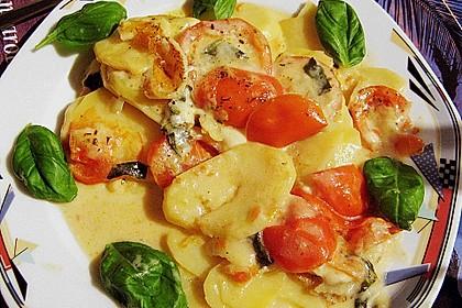 Kartoffelpfanne mit Mozzarella 4