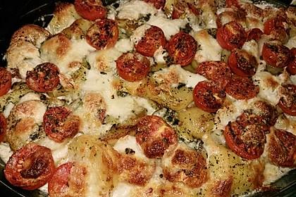Kartoffelpfanne mit Mozzarella 2