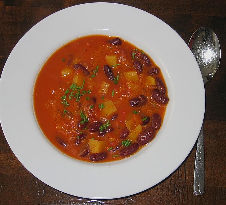 rote bohnen suppe mit paprika und tomaten von galimero. Black Bedroom Furniture Sets. Home Design Ideas