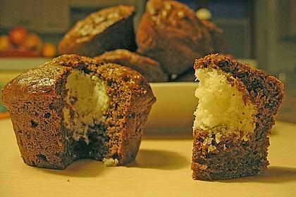 Schoko - Muffins mit Kokos - Herz 62