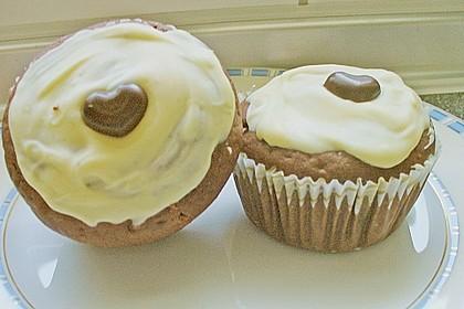Schoko - Muffins mit Kokos - Herz 97
