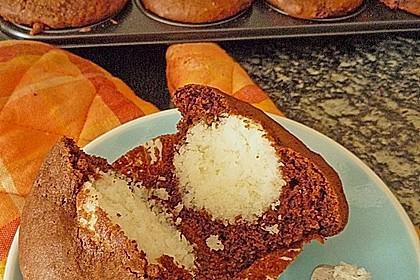 Schoko - Muffins mit Kokos - Herz 8