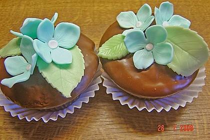 Schoko - Muffins mit Kokos - Herz 81