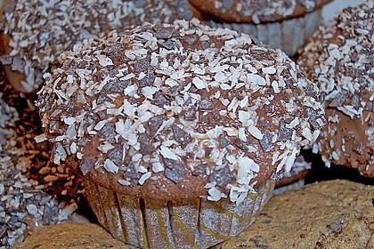 Schoko - Muffins mit Kokos - Herz 58