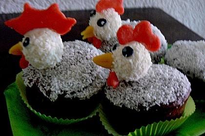 Schoko - Muffins mit Kokos - Herz 23