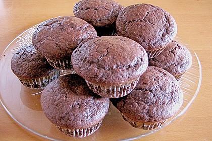 Schoko - Muffins mit Kokos - Herz 78
