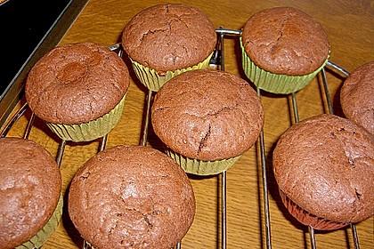 Schoko - Muffins mit Kokos - Herz 40