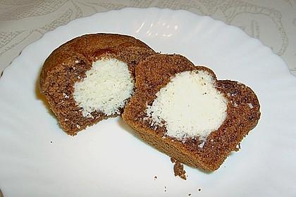 Schoko - Muffins mit Kokos - Herz 32