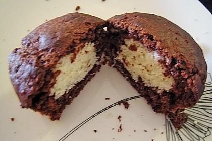 Schoko - Muffins mit Kokos - Herz 96