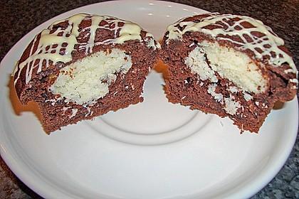 Schoko - Muffins mit Kokos - Herz 17