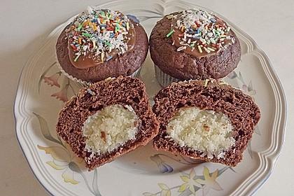 Schoko - Muffins mit Kokos - Herz 28