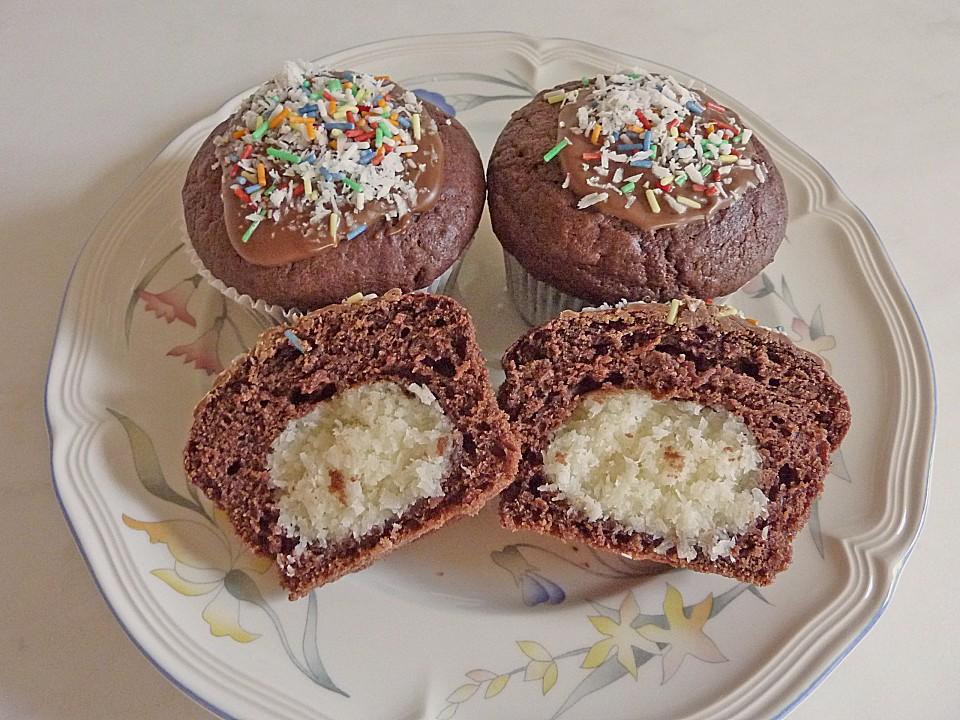 schoko muffins mit kokos herz von carstenroesner. Black Bedroom Furniture Sets. Home Design Ideas