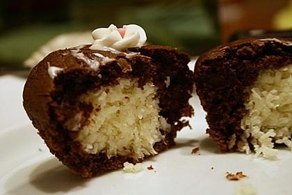 Schoko - Muffins mit Kokos - Herz 46