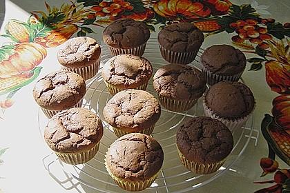 Schoko - Muffins mit Kokos - Herz 52