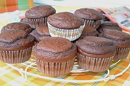 Schoko - Muffins mit Kokos - Herz 24