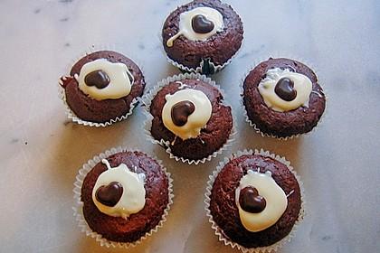 Schoko - Muffins mit Kokos - Herz 67