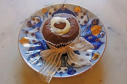 Schoko - Muffins mit Kokos - Herz 35