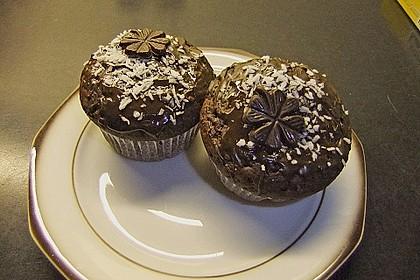 Schoko - Muffins mit Kokos - Herz 64