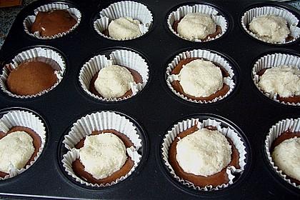 Schoko - Muffins mit Kokos - Herz 118