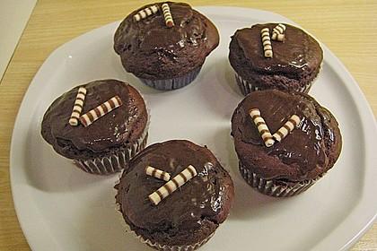 Schoko - Muffins mit Kokos - Herz 45