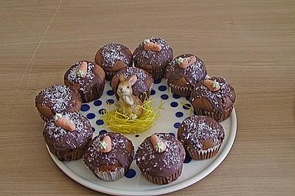 Schoko - Muffins mit Kokos - Herz 128