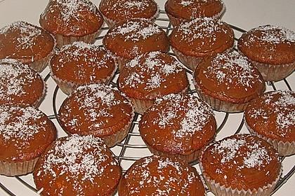 Schoko - Muffins mit Kokos - Herz 129