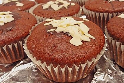 Schoko - Muffins mit Kokos - Herz 14