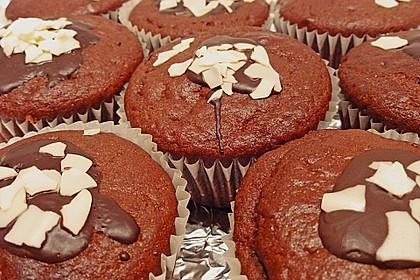 Schoko - Muffins mit Kokos - Herz 18