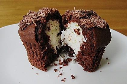 Schoko - Muffins mit Kokos - Herz 5