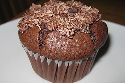Schoko - Muffins mit Kokos - Herz 13