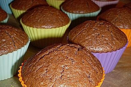 Schoko - Muffins mit Kokos - Herz 50