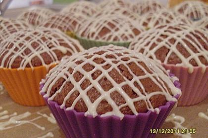 Schoko - Muffins mit Kokos - Herz 127